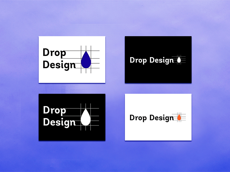 Drop design vignette